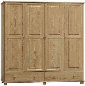 AMI nábytok skříň 4Dč5 šířka 160 borovice