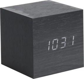 KARLSSON Budík Mini Cube čierny