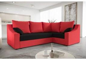 Praktická rohová sedačka OMNIA - červená / čierna