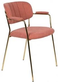 WLL JOLIEN ARMCHAIR GOLD stolička Ružová