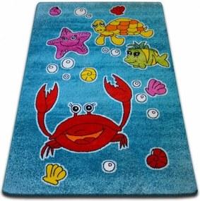 Detský koberec Kids Ocean modrý C424 - 120x170 cm