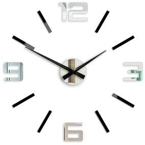 Mazur 3D nalepovacie hodiny strieborné XL