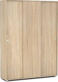 DREVONA09 Šatníková skriňa 3-dverová dub bardolino REA LARY S6/200