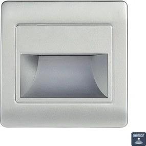 Zápustné svietidlo EMITHOR STEP LIGHT NET LED 1,5W,4000K,SILVER+SEN 70402