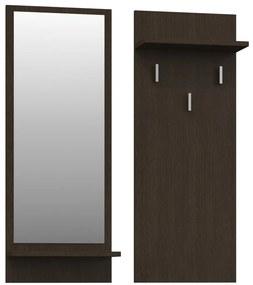 Shoptop Věšáková stěna se zrcadlem- RIVA- Wenge
