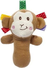 AKUKU Nezaradené Plyšová hračka s pískatkom Akuku opica Hnedá  