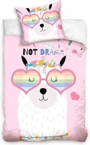 BedTex Bavlnené obliečky Lama Not Drama, 140 x 200 cm, 70 x 90 cm