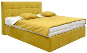 FINES HONORE boxspringová posteľ 180x200 žltá