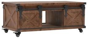 vidaXL Konferenčný stolík z jedľového dreva 91x51x38 cm hnedý