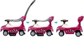 EcoToys Detské odrážadlo, vozítko, chodítko 3v1, fialové, 321