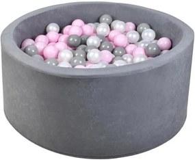 ISO Suchý bazén s guličkami 200ks ružová, 5419