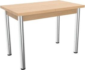 Rozkladací jedálenský stôl 100 x 60 cm - kovové nohy