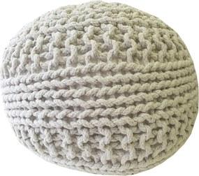 KUDOS Textiles Pvt. Ltd. Sedací vak TEA POUF 17 bílý - 40x40x35 cm