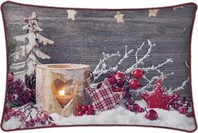 vianočný svietiaci vankúš 30x50 cm