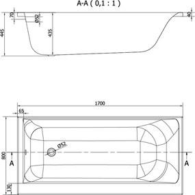 CERSANIT - VAŇA SMART 170X80 PRAVÁ (S301-116)