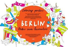Coloreo Vyfarbovací plagát - maľovanka, Berlin