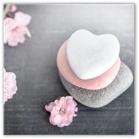 Obraz Styler Glasspik Spa & Zen Heart Stone, 30 × 30 cm