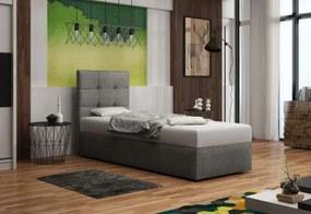 Čalúnená jednolôžková posteľ DUO 2, Cosmic160, 90x200
