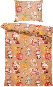 Obliečky Vianočné zvieratá (Rozmer: 1x150/200 + 1x60/50)