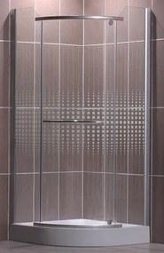 Roltechnik Sanipro sprchovací kút Austin 900 striebro/potlač