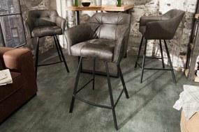 Dizajnová barová stolička Giuliana, taupe
