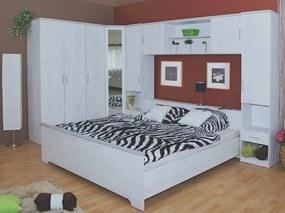 Zostava rohovej spálne Vendy, bielený sibírsky smrekovec