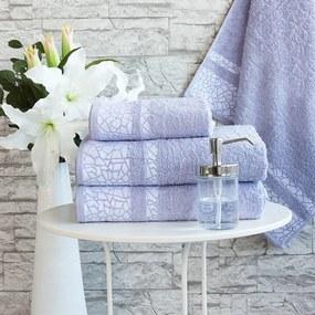 XPOSE ® Froté ručník KIRA - šedofialová 50x90 cm