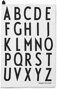 Design Letters Kuchynská utierka Design Letters, sada 2 ks, biela