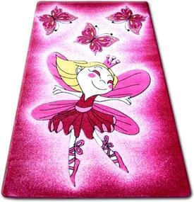 3kraft Detský koberec HAPPY FAIRY ružový