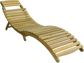 Záhradné drevené lehátko MEGGIE