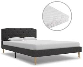 vidaXL Posteľ s matracom, čierna, látka 120x200 cm