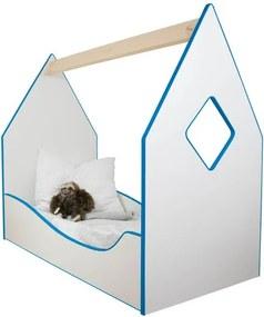 Detská posteľ domček modrá