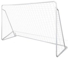 vidaXL Futbalová bránka so sieťou 240 x 90 x 150 cm