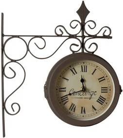 Obojstranné nástenné hodiny Antic Line Concierge