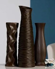 Dekoratívna váza DIVERSO 33,5 cm - hnedá