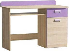 PC stôl, jaseň/fialový, EGO L10