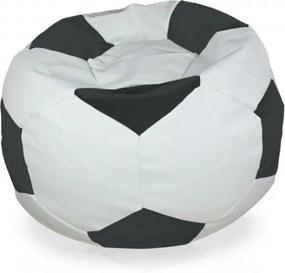 Sedací vak Futbal sivý - XL
