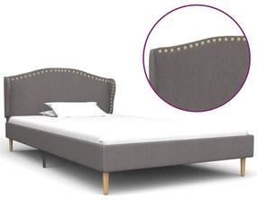 vidaXL Rám postele bledosivý látkový 90x200 cm