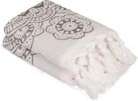 Sada 2 sivých bavlnených uterákov Carmelo Lerro, 50 × 90 cm