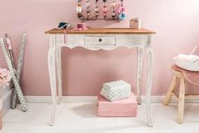 Bighome - Písací stôl ERNEST 80 cm - biela