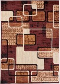Kusový koberec PP Lines hnedý, Velikosti 130x190cm