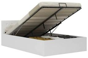 vidaXL Hydraulický posteľný rám+úložný priestor, umelá koža 120x200 cm