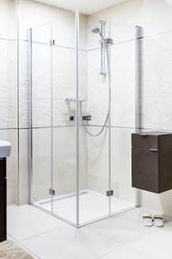 Sprchový kút obdĺžnik 100x80x195 cm Siko SK chróm lesklý SIKOSK80100