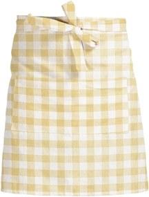 Látková zástera Linen Couture Delantal de Lino Yellow Vichy