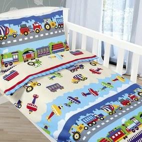 Bellatex Detské obliečky Agáta Lietadlá a autá, 90 x 135 cm, 45 x 60 cm
