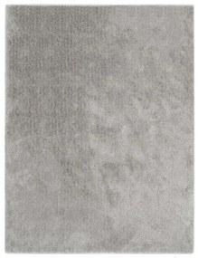 vidaXL Chlpatý koberček sivý 160x230 cm