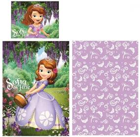 Javoli Detské bavlnené obliečky Disney Sofia Magic 140 × 200cm, 70 × 90 cm