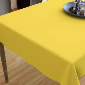 Goldea bavlnený obrus - žltý 120 x 120 cm
