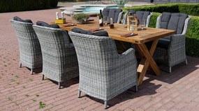 Norwick teak Chester záhradná stolová súprava