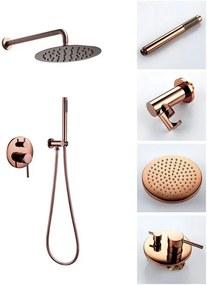 REA Lungo - Podomietkový sprchový set, ružová-zlatá, REA-P4111